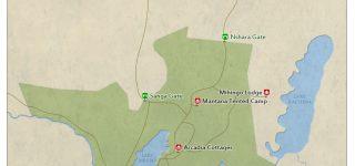 Map of Lake Mburo